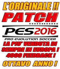 PATCH PES 2016 PS3 - OPTION FILE -STAGIONE 2017- BUNDESLIGA SERIE B COMPLETE100%