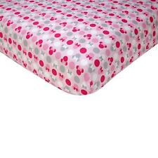 Disney Minnie Mouse Polka Dots  Cotton baby  Fitted Crib Sheet