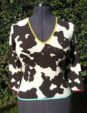Paul Smith Woman 100% Cashmere Cow Pattern Jumper (Size M)