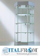 Vetrina da Banco in Cristallo Espositore Faretti Alogeni Negozio diam. 36 x H74