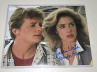 Claudia Wells Signed 11x14 Photo Back to the Future Autograph Beckett BAS COA!