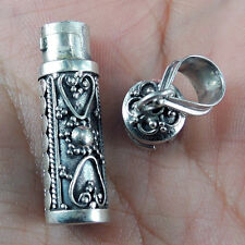 Ethnic Style Solid 925 STERLING SILVER PRAYER LOCKET PENDANT, Ashes Box