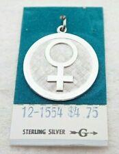 Vintage Griffith Female Gender Symbol Sterling Silver Necklace Bracelet Charm