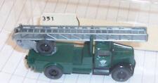 Wiking 862 vintage Opel Blitz dark Green fire ladder truck boxed plastic ho