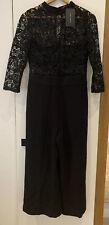 NEW Zara Black Lace Jumpsuit Size L