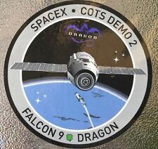 SPACEX FALCON 9 DRAGON - COTS DEMO 2 - ISS NASA TRANSPORT SPACE Mission  Sticker
