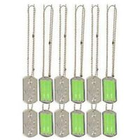 Camouflage Military Army Greens Party Supplies Favours Dog Tag Necklace 12 pack