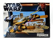 """STAR WARS Episode 1 ANAKINS POD RACER toy vehicle ship for 4"""" toy figures"""