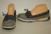Sperry Gray Top Sider Leather Mesh Desk Shoes Loafers Womens 9M LN worn once