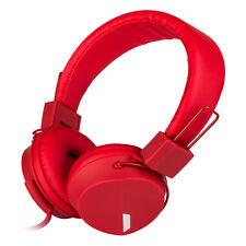 RockPapa Foldable Stereo Girls Kids Headphones Headsets fr iPhone Samsung LG Red