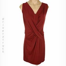 SIMPLY VERA WANG Women's X-SMALL V-Neck RED DRESS Gathered CRISS-CROSS Front