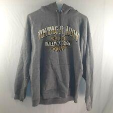 Harley Davidson Men's Medium Grey Hoody Vintage Iron Portsmouth Virginia
