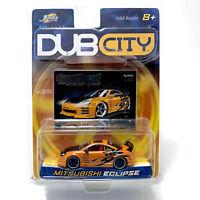 Jada Toys 2003 Dub City ~ MITSUBISHI ECLIPSE Import Racer ORANGE #048 ~ 1:64