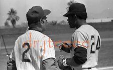 1972 Leo Durocher & Willie Mays - 35mm Baseball Negative