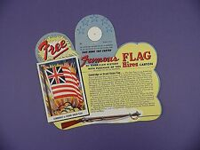 c1950's Hires Root Beer Bottle Hanger Trading Card - Cambridge/Grand Union Flag