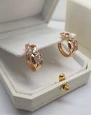 Yellow gold finish infinity huggie hoop created diamond earrings gift boxed