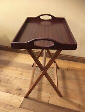 """Mahogany Butlers Tray with Folding Stand 24"""" x 16"""" x 24"""" high"""