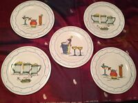 Set of Plates Handpainted in Brasil/Brazil - In Mint Condition!!!