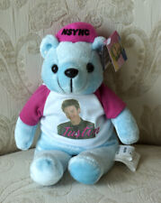 Justin Timberlake Limited Edition Rare Bear Nsync Light Blue Bear w/Photo Shirt