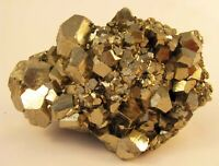 PYRITE BRILLIANT PENTADODECAHEDRAL CRYSTALS from PERU....BEAUTIFUL PYRITE PIECE.