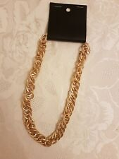 H&M Chunky Gold Chain Link Necklace Costume Jewellery NEW