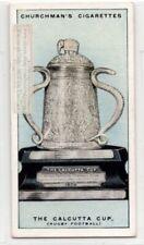 Calcutta Cup Rugby Football England Scotland 1920s Ad Trade Card
