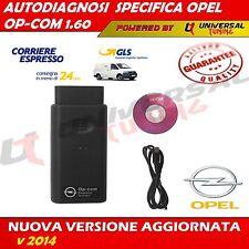 DIAGNOSTICA SPECIFICA OPEL OP-COM V1.60 SCAN TOOL USB 16 PIN AUTO OBDII 2014