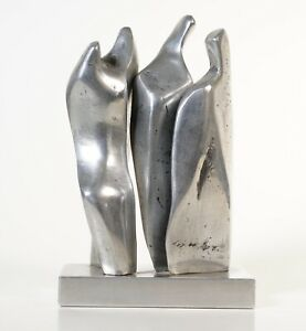 Maggie Milano art American - abstract cast aluminum sculpture, Signed 78 statue