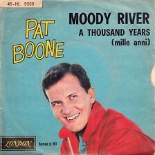 "PAT BOONE-MOODY RIVER/A THOUSAND YEARS-RARE ORIGINAL ITALIAN PS 7"" 45rpm 1961"