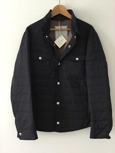NWT $2995 BRUNELLO CUCINELLI Quilt Puffer Shirt Nylon Jacket Size L