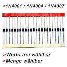 1N4001 / 1N4004 / 1N4007 - FREIE AUSWAHL VON MENGE + ART  Diode Dioden Rectifier
