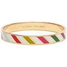 Kate Spade Flying Colors Bangle Bracelet NWT Colorful Bold Barber Stripes