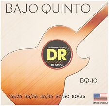 DR Strings BQ-10 Bajo Quinto guitar Strings Round Core with Loop Ends