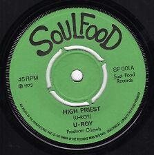 """"""" HIGH PRIEST. """" u roy. SOUL FOOD 7in 1973."""