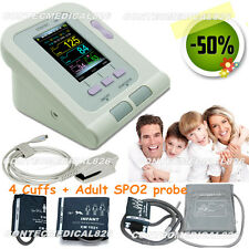 FDA Color Blood pressure monitor Electronic Sphygmomanometer+4 CUFF+SPO2 probe