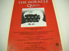 Queen vintage Uk mag full pg. Frameable Poster Advt The Miracles new single