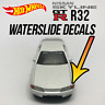 Hot Wheels Nissan Skyline GTR R32 Custom WaterSlide White Toner Decals Headlight