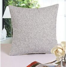 Cotton Linen Blend 18'' Square Pillow Case/Cushion Cover Simple Solid Color