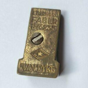 Vintage eberhard Faber van dyke No 235 Solid Brass Pencil SharpenMade in Germany