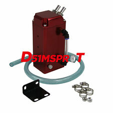 1L OIL CATCH SQUARE BILLET ENGINE RESERVOIR BREATHER TANK/CAN Red