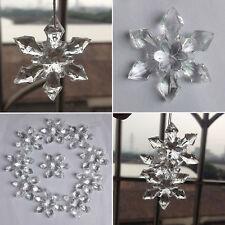 20 piezas Acrílico témpano TRANSPARENTE Copo De Nieve Navidad Adorno de árbol