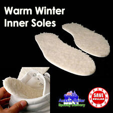 Thermal Wool Insole Latex size 36-46 cutting free Winter shoe Warm Soft Comfort