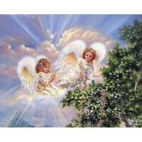 Round 5D Diamond Painting Rhinestone Angel Girl Kit Art Cross Stitch Handmade