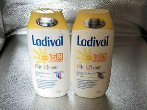 400 ml LADIVAL Sonnenschutz Milch für Kinder 30 und 50+ je 200 ml