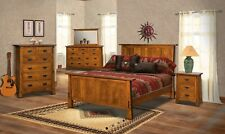 Amish 5-Pc Bedroom Set Arts & Crafts Mission Solid Wood Exposed Tenons Modesto