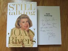 """Comedian JOAN RIVERS signed """"STILL TALKING"""" 1991 1st Edition Book (INS)"""