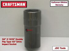 """CRAFTSMAN AIR TOOLS 1/2"""" drive 3/4 X 13/16 DOUBLE END IMPACT flip socket wrench"""