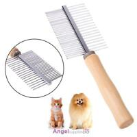 Pet Brush Comb Cat Dog Fur Hair Grooming Trimmer Dematting Steel Tool A
