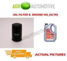 PETROL OIL FILTER + FS 5W40 ENGINE OIL FOR FIAT STILO 1.2 80 BHP 2001-03