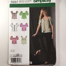 Simplicity 2697 Wide neck Scoop Top Raglan Blouse PLUS Ladies New Uncut Pattern